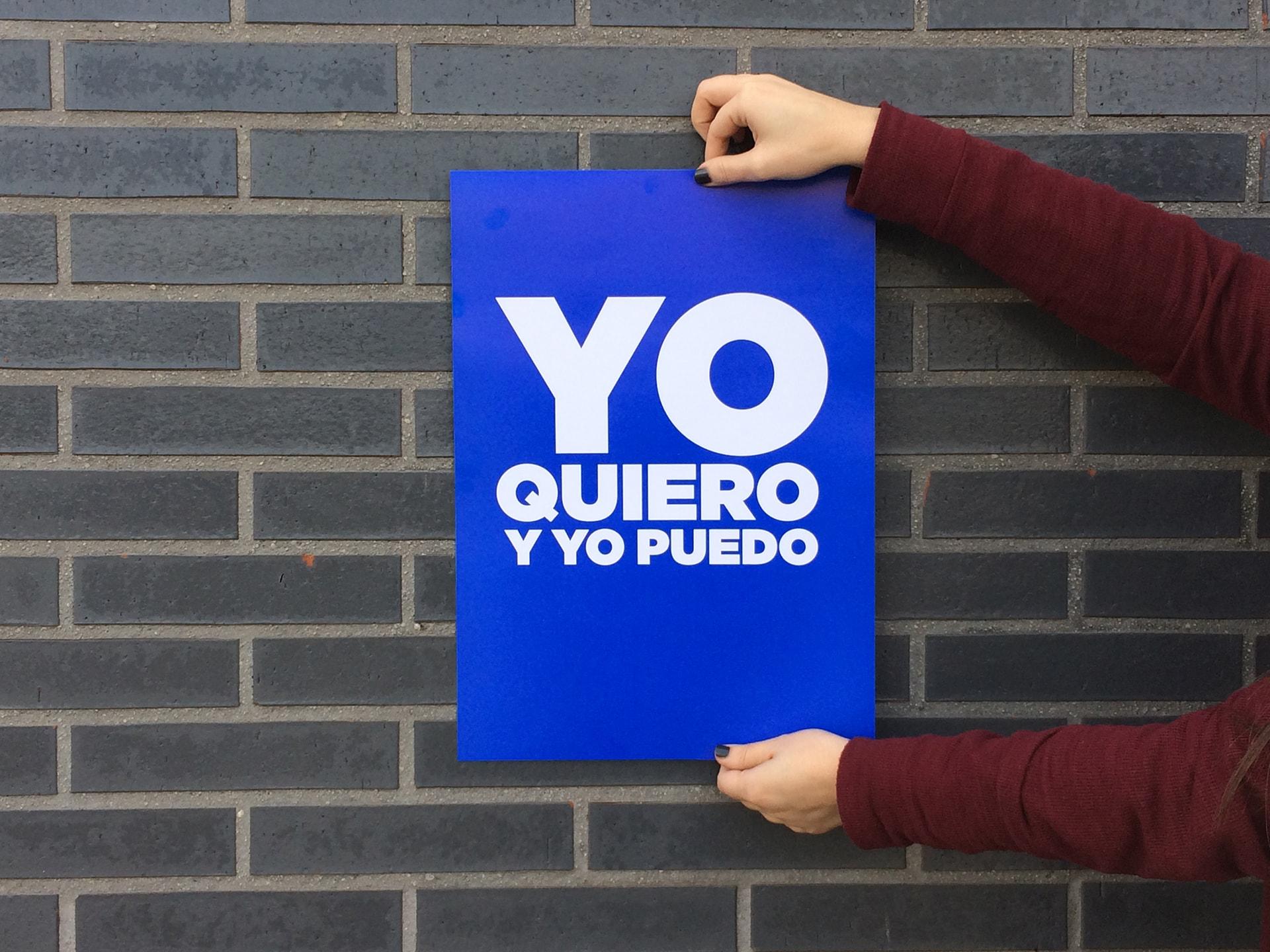 yo quiero y yo puedo cartel