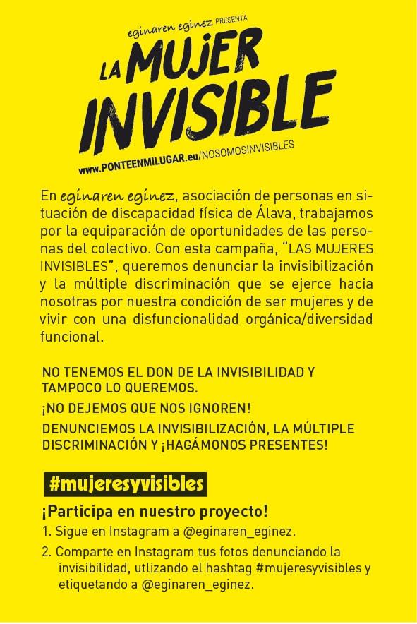 la mujer invisible flyer
