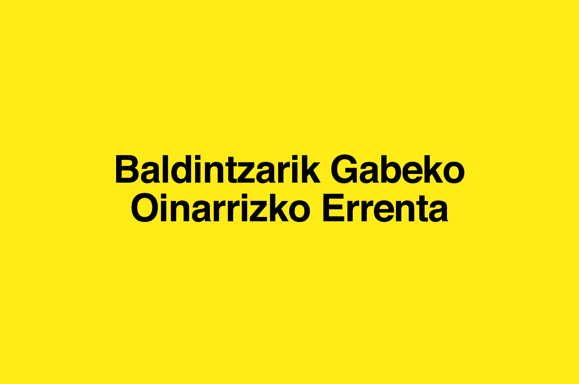 Baldintzarik Gabeko Oinarrizko Errenta